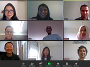 screenshot of 6 people during a videomeeting